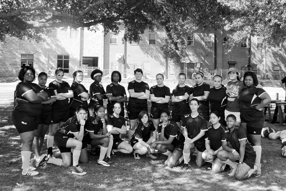 The 2014 SHC Women's Rugby team. Photo by SHC Assistant coach Mike