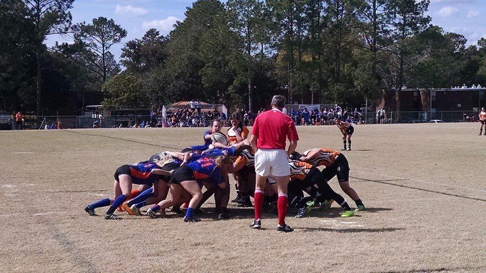University of Florida vs. University of Tennessee; courtesy of University of Florida Women's Rugby Club