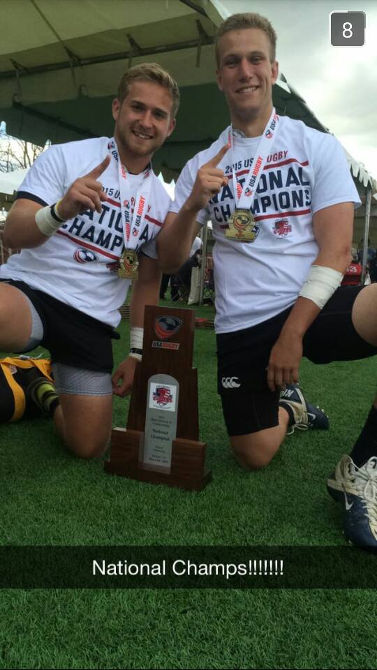 James Madison Rugby Celebrating a championship win; photo courtesy of James Madison Rugby