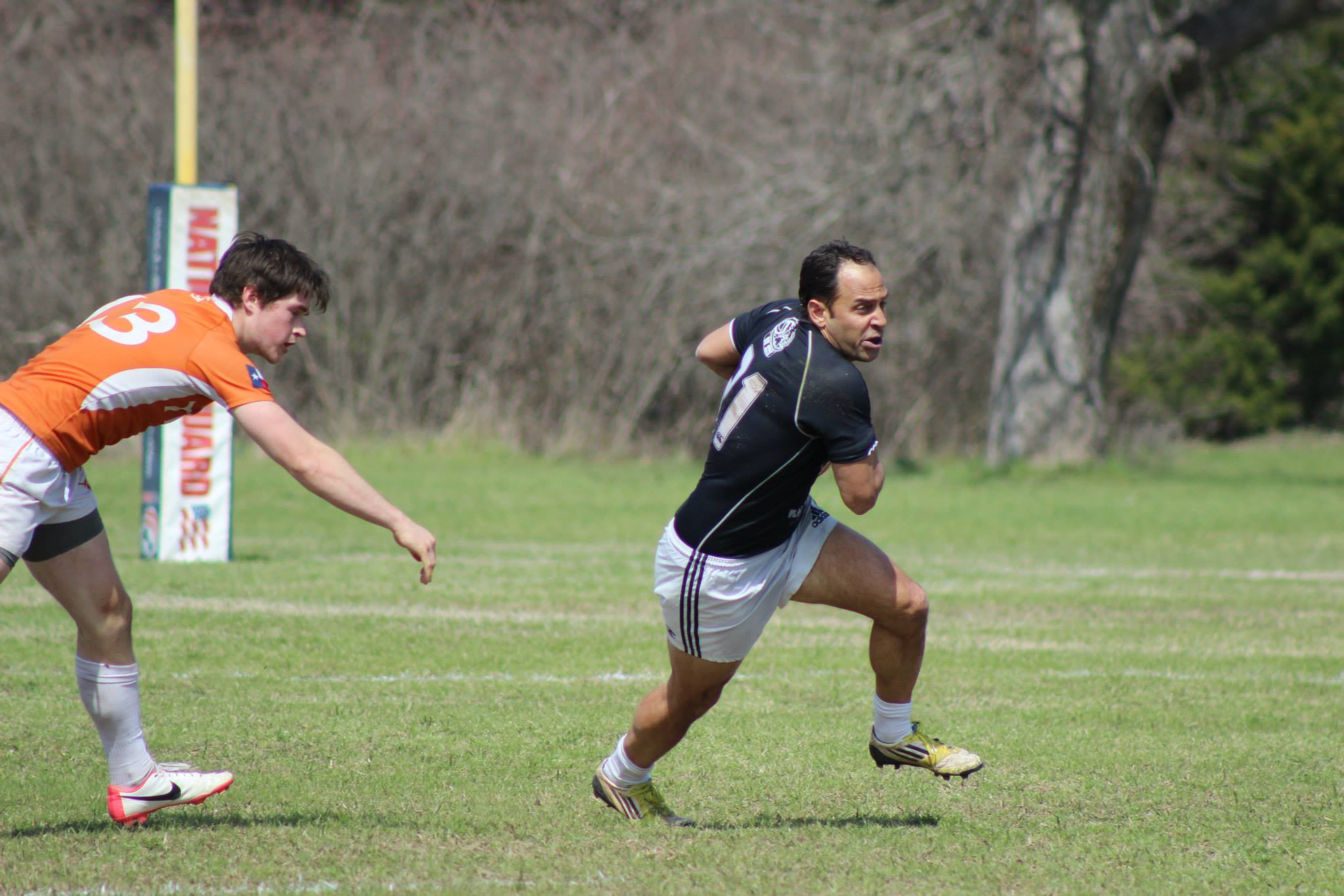 Jacob Liberman during the Texas vs. Austin Blacks scrimmage; courtesy of University of Texas Rugby