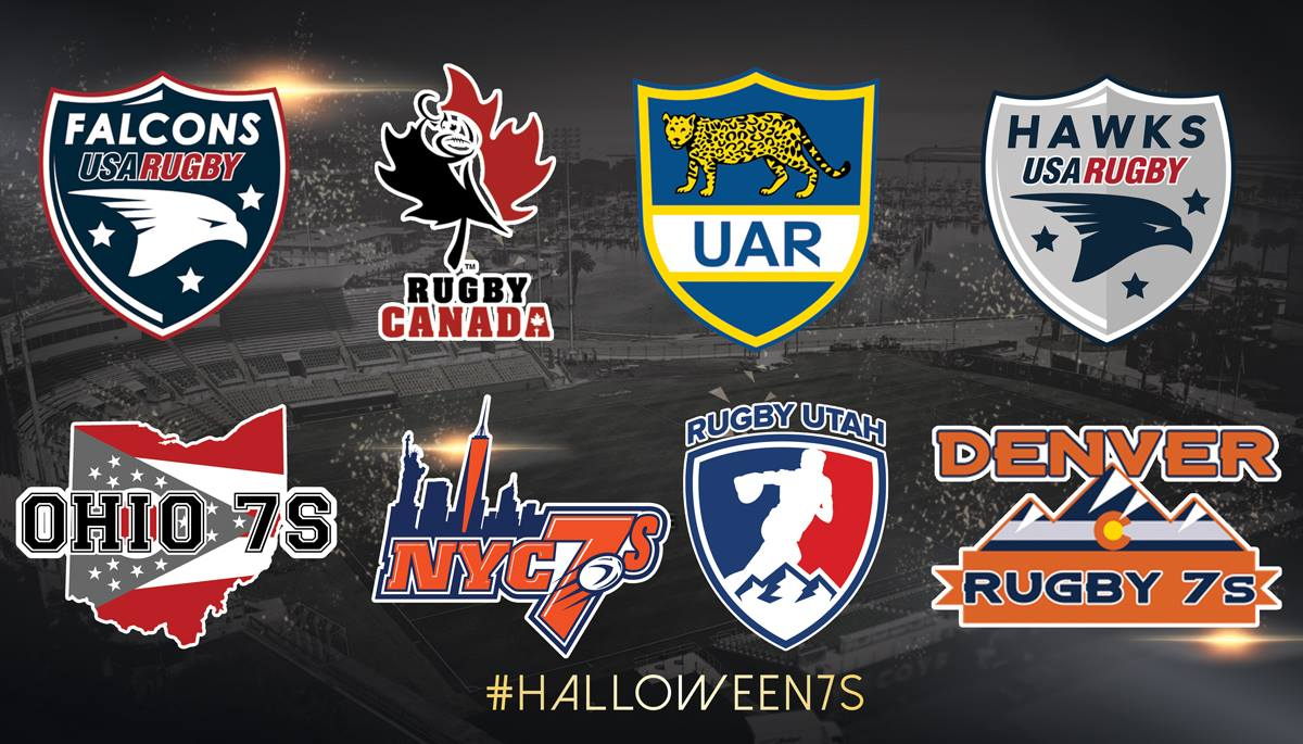Participating teams photo by Halloween 7s Elite International Invitational Tournament