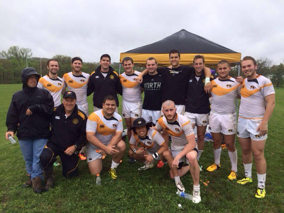 Glascott and teammates pose for a photograph. Photo by Mizzou Rugby Club