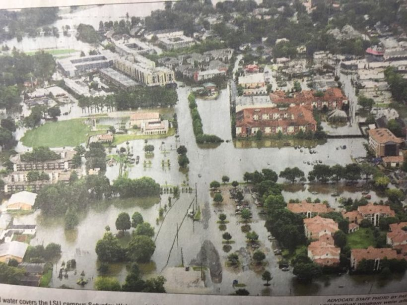 LSU flooded